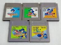 Nintendo Gameboy Rockman World 1/2/3/4/5 set Mega man Japan GB