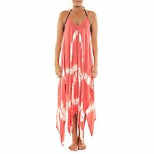 NWT Raviya Swim Swimsuit Cover Up Tie Dye Handkerchief-Hem Dress Coral Size L