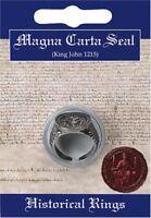 MAGNA CARTA King John Seal Ring in Fine Pewter
