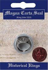 Magna Carta Rey John estaño fino en anillo de sello