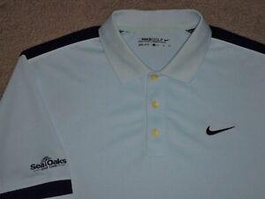 Men's NWOT NIKE GOLF Dri-Fit Golf Polo XL SKY BLUE w/Trim & Swoosh w/Golf Logo