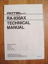 Rotel RA-930AX Technical Manual