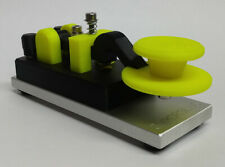 Yellow Camelback Morse Code Key W/ Skirt & Aluminum Base