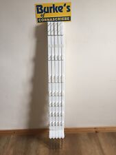 10x105cm White Electric Fencing Fence Poly Plastic Posts Horse Paddock Line Pole