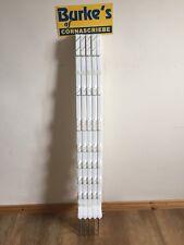 10x105cm Bianco Elettrico Scherma Recinzione Poly Pali di plastica Cavallo Paddock line Pole