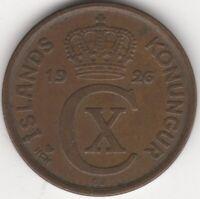 1926 Iceland 5 Aurar Coin | European Coins | Pennies2Pounds