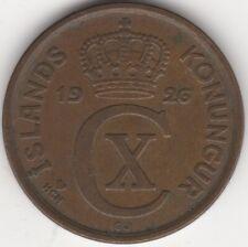 More details for 1926 iceland 5 aurar coin   european coins   pennies2pounds