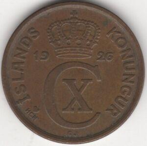 1926 Iceland 5 Aurar Coin   European Coins   Pennies2Pounds