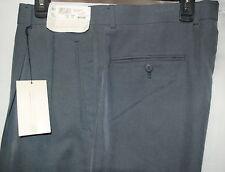 New RAPHAEL MEN's dress PANTS 38 W x 32 L PLEATED  cuffed navy polynosic pin dot