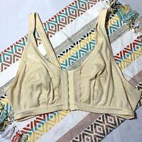 VINTAGE Camp Naturalwear Bra Size 36/38 Cream Ivory Hook Eye Closure Unionmade