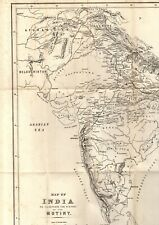 More details for large map of india illustrating the history of the mutiny (1883 - part-shown)