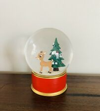 Pottery Barn Kids Snow Globe Rudolph The Red Nose Reindeer Christmas SnowGlobe