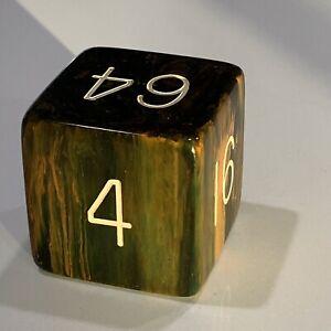 Vintage Backgammon Doubling Cube Blue Moon 1.5 Inch Bakelite
