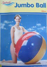 Splash, Jumbo Ball, XXL, Wasserball, Beach Ball, 122cm, Rarität, Vintage, OVP!