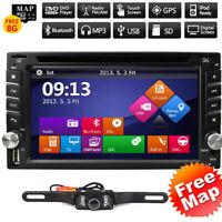 6.2'' Double Din Car MP3 Player Head Unit Radio Stereo GPS SATNAV Parking Camera