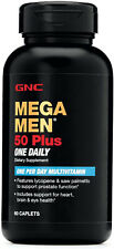 GNC Mega Men 50 Plus One Daily Multivitamin for Men, 60 Count, Take One A Day,