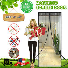 "Magnetic Magic Screen Door Mesh Curtain Durable Hand Free Mosquito Net 39""x82"""