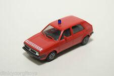 HERPA VW VOLKSWAGEN GOLF MKII MK2 FEUERWEHR FIRE CAR RED NEAR MINT CONDITION