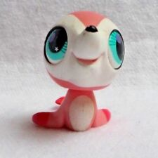 Littlest petshop lps #2686 hasbro anteater seal pink and white green eyes