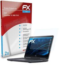 atFoliX 2x Screen Protector voor Dell Precision 15 7000 7510 duidelijk