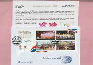 G.B. Stuart First Day Cover, Memories of London 2012 Olympic Games,