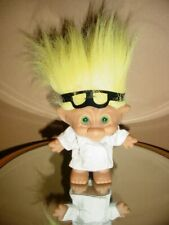 "DOCTOR/SURGEON - 5"" Ace Treasure Lucky Troll Doll Yellow Hair Uniform & Glasses"