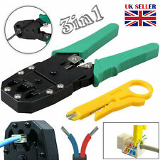 RJ45 Cat5e Cat6 Cat7 RJ11 Network Ethernet Cable Stripper Crimper Crimping Tool