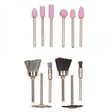 "12 pc polishing Kit 3.17mm 1/8"" Shank Fits Dremel Type Machines Nylon Wire Brush"