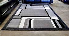 5x8 - AREA RUGS - CARPET - FLOORING - GREY BLACK WHITE - MODERN - NEW