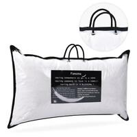 "2 x Down Bed Pillow Feather Goose Soft Pillows Cotton 18""X26"" standard Size"