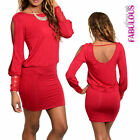 Sexy Long Sleeved Cut Out Mini Dress Size 6 8 10 12 Sequin Detail Soft Stretchy
