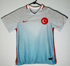 Nike Dri Fit Turkey 2016-2017 Soccer Jersey Kit Sewn On XS Extra Small
