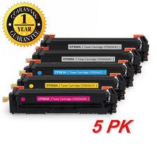 5PK CF500A Color Toner Cartridge For HP 202A LaserJet Pro MFP M281fdw M281cdw