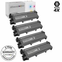 4PK TN660 TN630 High Yield BLACK Toner for Brother HL-L2300D MFC-L2700 DCP-L2520