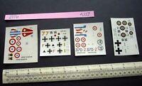 4 Unused 1960s Vintage FROG Decals Do 335, D520C, Fw 190A, MS406C.  (117)