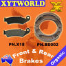 FRONT REAR Brake Pads Shoes for Honda XR 250 1988-1989