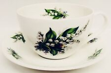 Lily of The Valley Breakfast Cup & Saucer Bone China Lilies Cappuccino Latte Set