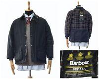 Mens BARBOUR BEDALE Wax Waxed Jacket Coat Black Size C38/97cm
