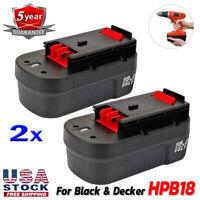2x For Black & Decker HPB18-OPE 18V Slide Battery HPB18 FS18BX 244760-00 HPD1800