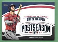 Bryce Harper 2018 Topps Update MLB POSTSEASON LOGO PATCH RELIC Nationals