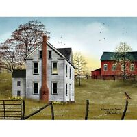 New Primitive BILLY JACOBS MORNING HAS BROKEN Farmhouse Barn Wall Hang Picture