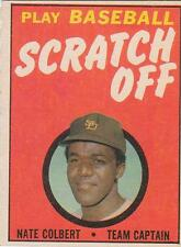 NATE COLBERT 1970 Topps Scratch Off card San Diego Padres EX+ Unscratched