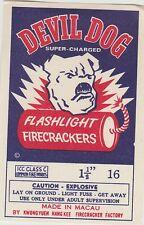 Vintage Devil Dog Firecracker Pack Label