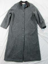 Vtg Usa Made Womens L.L. Bean Long Wool Coat Sz L Overcoat Nice Pattern