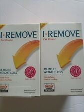 LOT OF 2 (New) I-REMOVE - Fat Binder Weight-Loss Aid - 180 Tablets each Exp.9/19