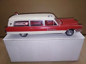 Vintage Johan 1966 Cadillac  Ambulance Built kit in 1/25th scale.