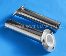 4X Boat Fishing Rod Holder 30 Degree Flush Heavy Duty Marine 316 Stainless