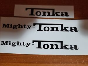 60's MIGHTY TONKA DUMP #900 DECAL SET WITH GRILL LOGO