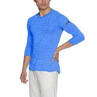 Under Armour Threadborne Mens Utility Blue 3/4 Sleeve Top Sports Gym Shirt 2XL