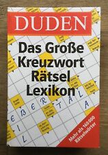 DUDEN Buch Nachschlagewerk ?Das Große Kreuzworträtsel Lexikon?